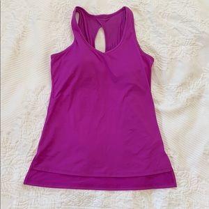 Gaiam purple sleeveless yoga / workout top, M